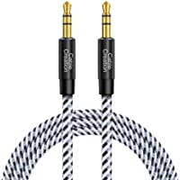 Aux Cable for Car, CableCreation 3.5mm Cotton Braided Aux Cable (10ft/3M,Hi-Fi Sound),Audio Auxiliary Male to Male Aux…