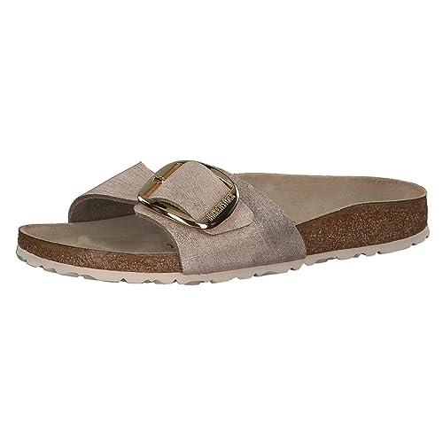 c9f278231f69 Birkenstock Madrid Big Buckle SL W Sandalias Washed Metallic Rose Gold   Amazon.es  Zapatos y complementos