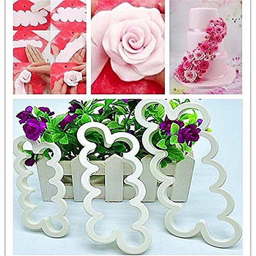 Cake Decorating Gumpaste Flowers The Easiest Rose Ever Cutter Cookie Cutters, Set of 3 (Tiny Flower Cookie Cutter)