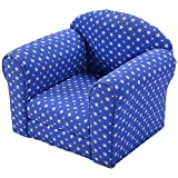 Auténtico Blue With White Stars Kids Sofa Armchair Armrest Chair Couch Sleeper Children Living Room Bedroom Playroom Toddler Indoor Outdoor Furniture Gift Set Lightweight