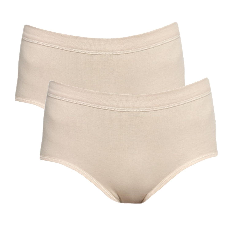 Ott-tricot 2-er Pack Damenwäsche Taillenslip mit Softbund 95% gek. BW 5% Elasthan in 10 Größen 38 - 56