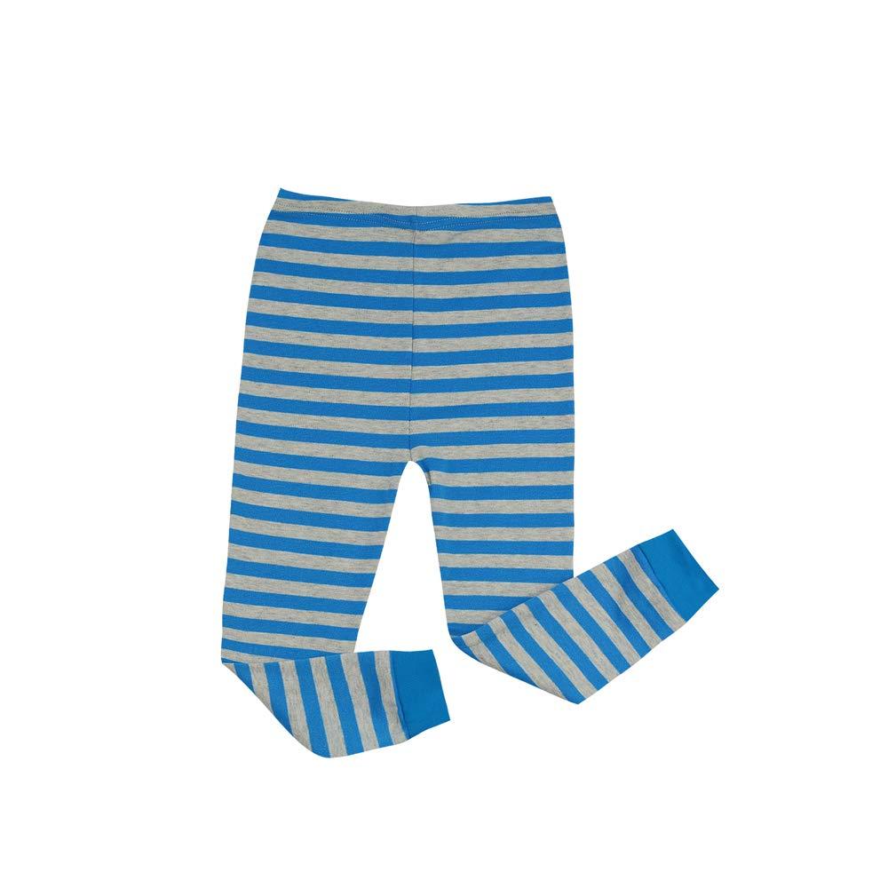 Kinder Jungen Mädchen Pyjamas Baumwolle Streifen Langarm Weihnachten ...