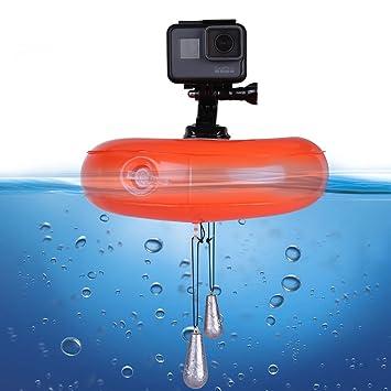 TELESIN - Disco flotante para cámaras de acción, hinchable, impermeable, plástico PVC: Amazon.es: Electrónica