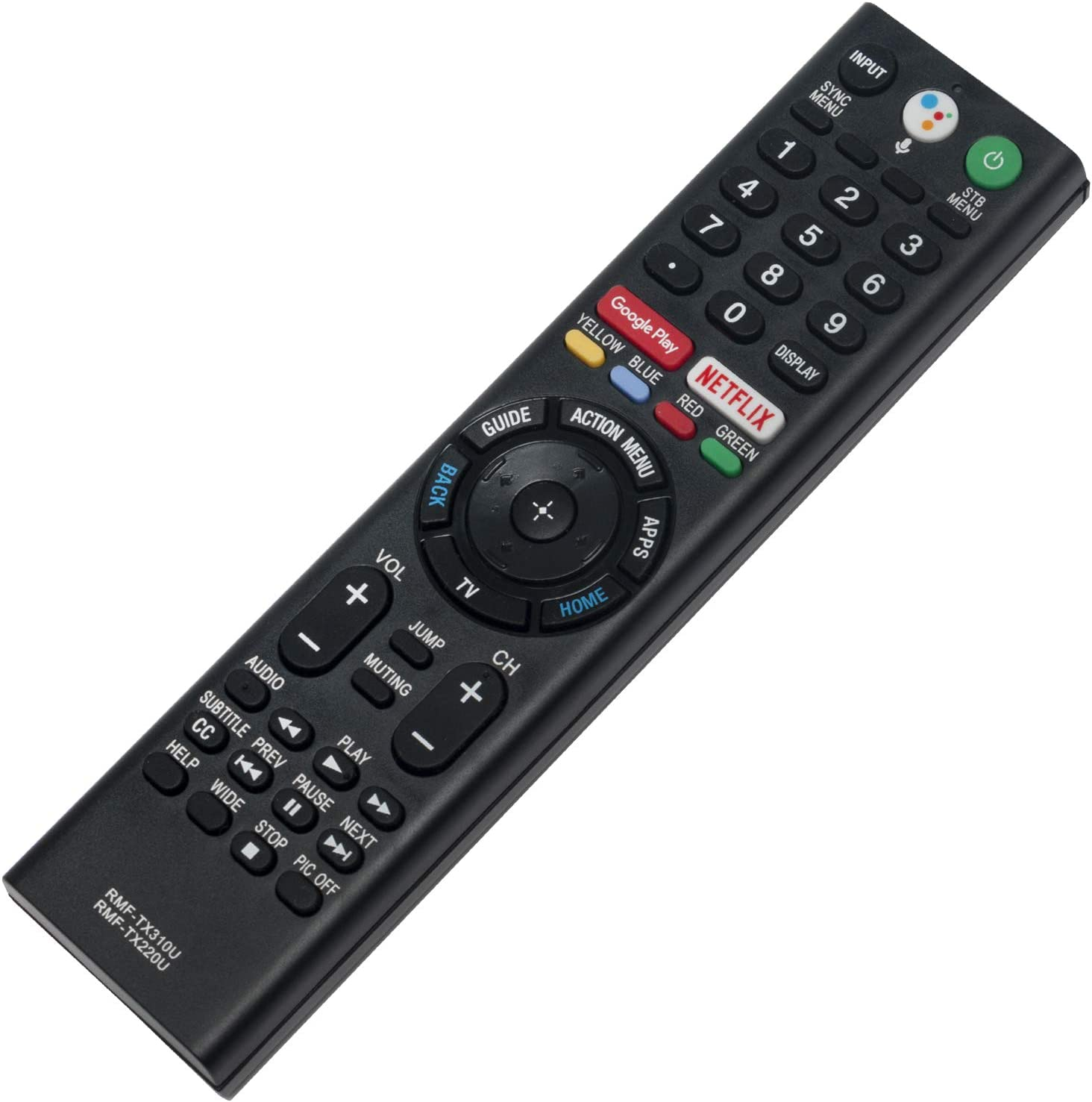 RMF-TX310U RMF-TX220U Replace Voice Remote Control fit for Sony 4K Smart Bravia TV XBR-43X800G XBR-75X800G XBR-65X800G XBR-49X800G XBR-55X800G XBR-55X900F KD-55X751F KD-55X755F KD-55X757F KD-75X780F