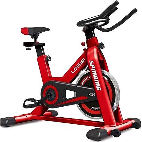 SZ-JSQC Hogar aparatos de Ejercicios Bicicleta de Ejercicio de Bicicleta de Spinning con Pantalla LCD Ajustable Gimnasio en casa Rojo: Amazon.es: Deportes y aire libre