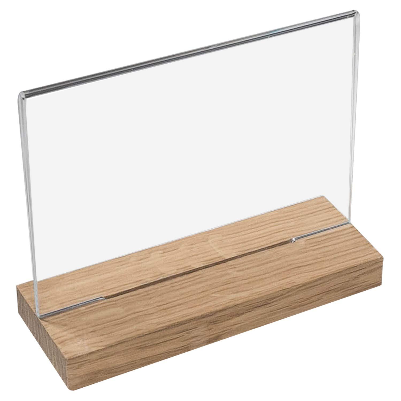Espositore da tavolo in plastica acrilica con base in legno dimensioni selezionabili 4694900 HMF