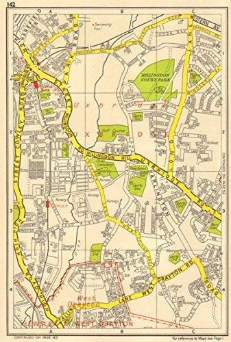 Amazoncom UXBRIDGE Cowley West Drayton Hillingdon GEOGRAPHERS - Old map shop london