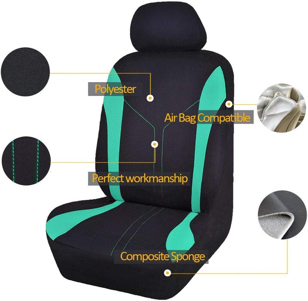 Flying Banner 6 pcs Fashion Mesh Universal Passform entworfen Auto Sitzbez/üge Set