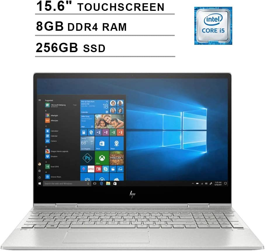2019 HP Envy x360 15.6 Inch FHD Touchscreen Laptop (Intel Quad Core i5-8265U up to 3.9 GHz, 8GB RAM, 256GB SSD, Intel UHD Graphics 620, Bluetooth, WiFi, HDMI, Windows 10)