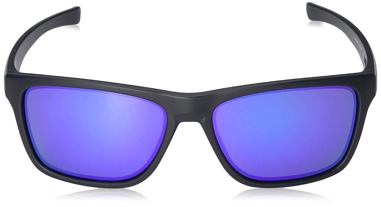 eece425e8c3 Oakley Men s Holston Iridium Square Sunglasses MATTE BLACK 57.9 mm   Amazon.ca  Clothing   Accessories