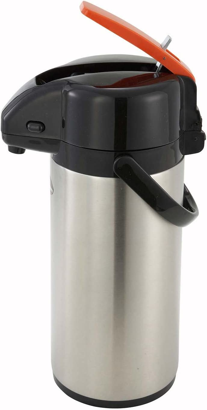 Winco Lever Top Decanter Decaf, 3-Liter, Stainless Steel Lined Airpot 61wgvO6H2OL