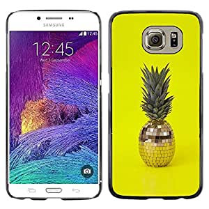 LASTONE PHONE CASE / Carcasa Funda Prima Delgada SLIM Casa Carcasa Funda Case Bandera Cover Armor Shell para Samsung Galaxy S6 SM-G920 / Cool 420 Weed Pineapple Disco Ball Yellow