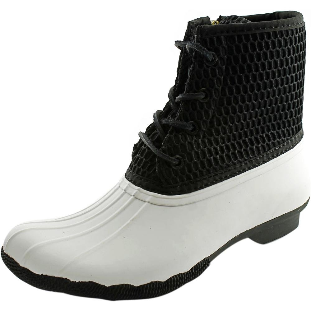Sperry Top-Sider Women's Saltwater Rope Emboss Neoprene Rain Boot B00VKT1U2M 8.5 B(M) US|White/Black