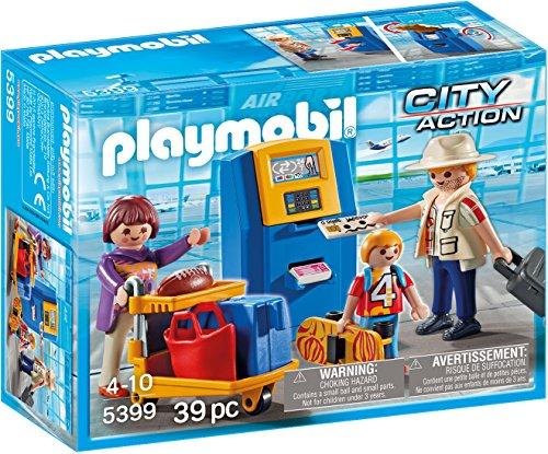 PLAYMOBIL® Family at Check-in Building - Playmobil Airport Terminal