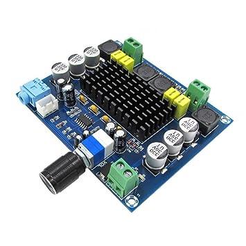 Rokoo Tarjeta de amplificador de potencia digital Receptor de módulo estéreo de audio de doble canal