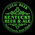 4x ccqs2017-g KENTUCKY Beer & Ale Cold Drink Bar Etched Engraved 3D Coasters