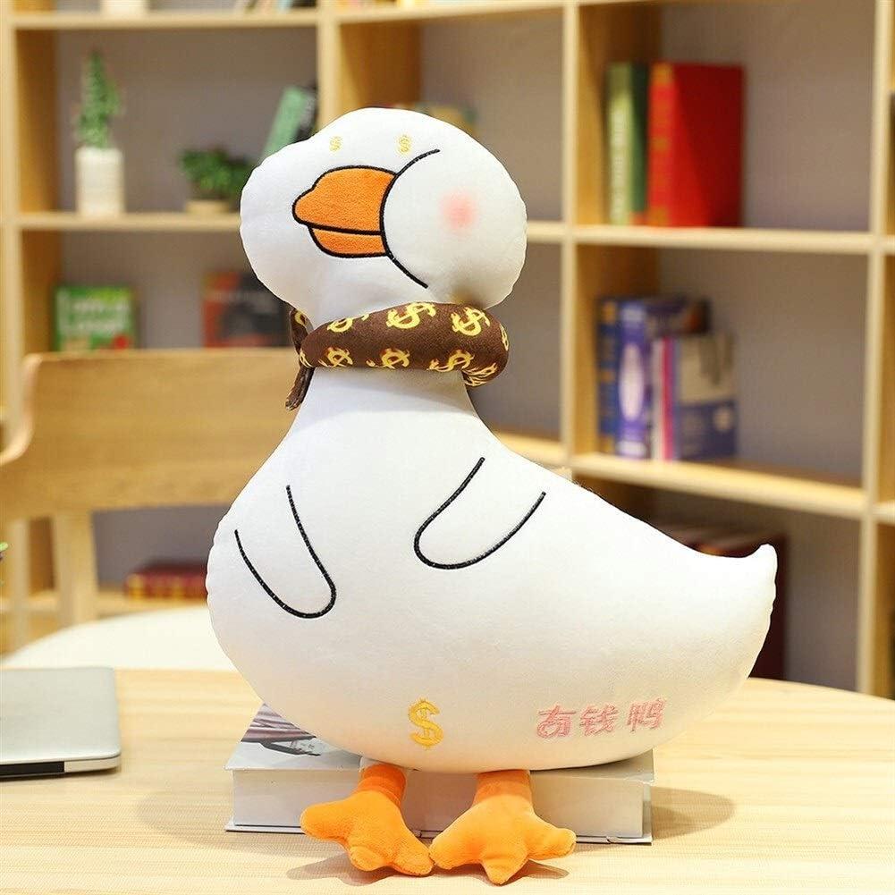NOBRAND Extraíble Lavable Almohadillas Creativo Pato de Juguete de Felpa Tipo de Inicio del sofá Amortiguador de la decoración Vivid Almohada Moda Cama, Regazo, sofá (Color : Brown, Size : 50CM)