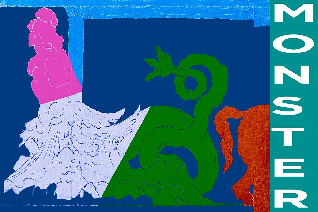 ArtParisienne Monster Scylla and A Centaur Variant by Nicolas Poussin Wall Decal, 32'' W x 48'' H by ArtParisienne (Image #1)