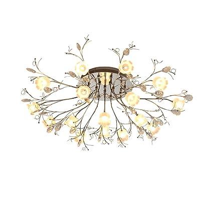 Amazon.com: LOFAMI Modern LED Ceiling 16 lights Glass flower Jewel ...