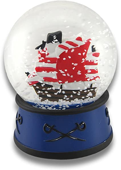 Things2die4 Children S Pirate Ship Snow Globe 4 In Home Kitchen Amazon Com