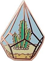 Real Sic Cactus Enamel Pin - Cute Cactus in Geometric Terrarium Lapel Pin - A Succulent Garden for Backpacks, Jackets,...