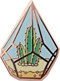 Real Sic Cactus Enamel Pin - Cute Cactus in Geometric Terrarium Lapel Pin - A Succulent Garden for Backpacks, Jackets, Hats & Tops