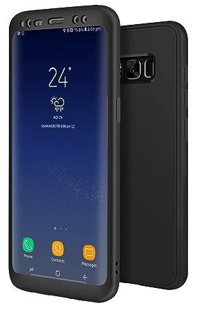 Funda Galaxy S8 Negro, ivencase Carcasa Samsung S8 TPU Flexible Silicona Premium Back Bumper + Trasero Suave Skin Cover Protección Black Case para ...