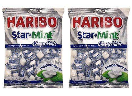 (HARIBO Star Mint Chewy Peppermint Mint Candy 6.5oz (2 Pack))
