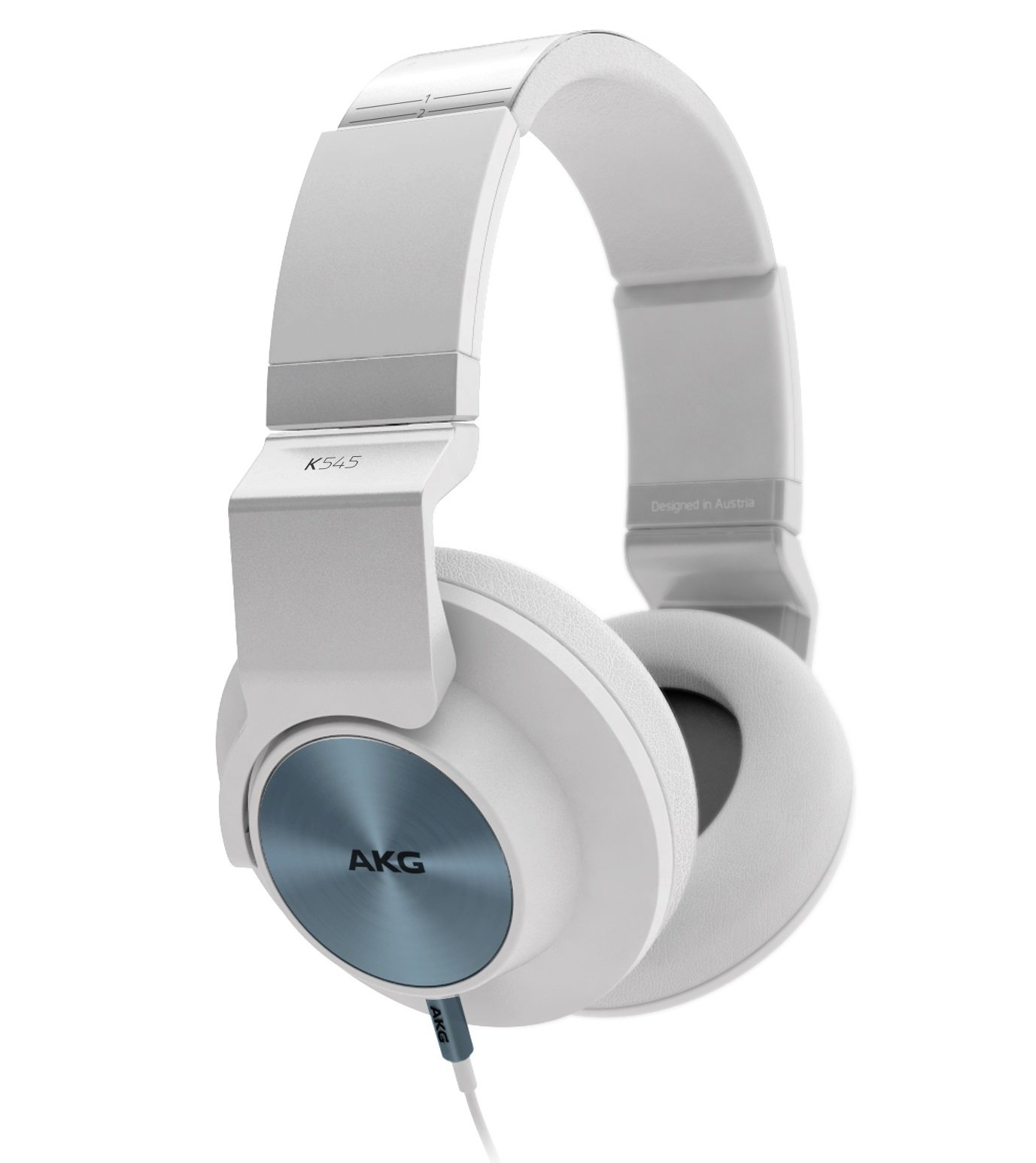 AKG K545 WHT Studio-Quality, Closed-Back, Over the Ear Headphones (White)