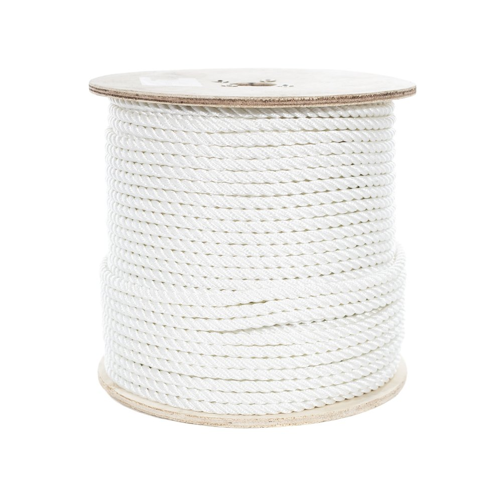 SGT KNOTS Poly Dacron Rope Moisture Abrasion /& Weather Resistant Commercial 1//2 inch UV DIY Arborist Marine 100 feet Twisted 3 Strand Line with Polyolefin Core Chemical