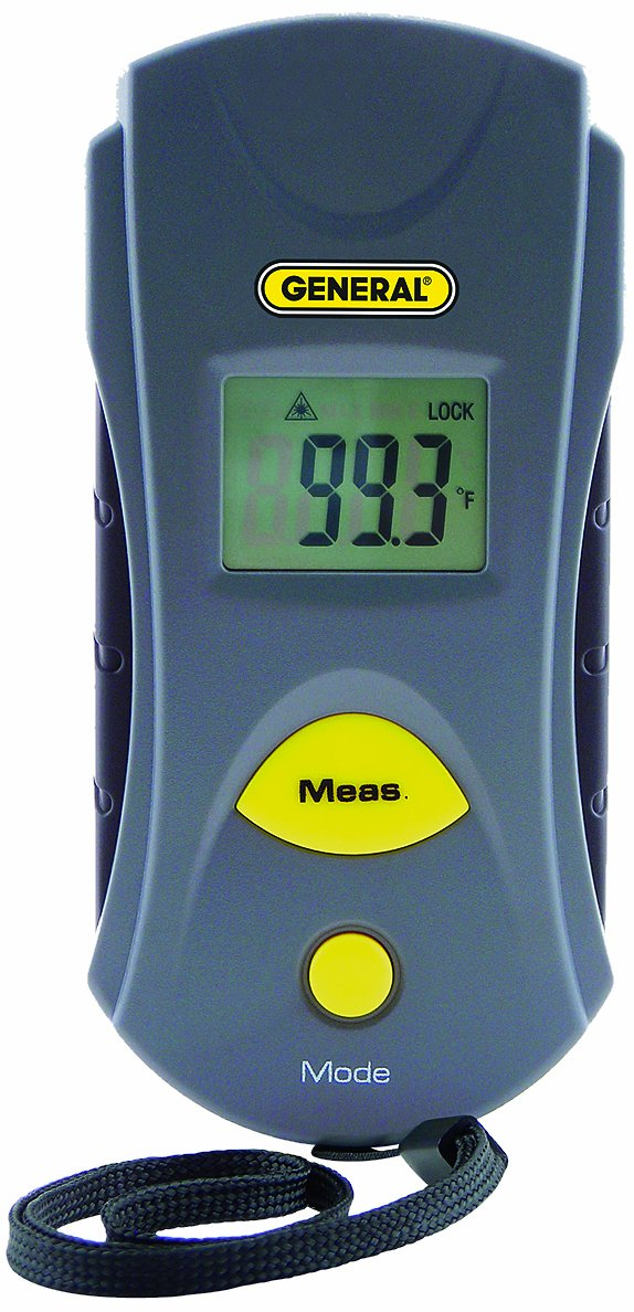 General Tools IRT105 Infrared Thermometer, Pocket Size, 6:1 General Tools Mfg Co In