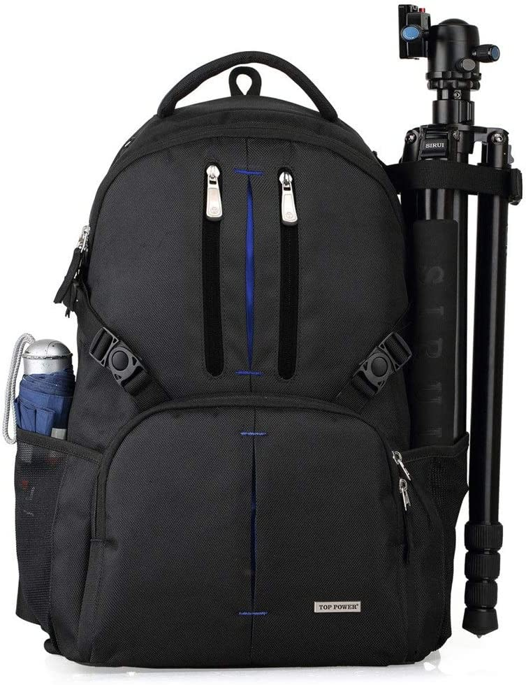 Color : Blue, Size : 50x22x32cm MDYYD Camera Backpack Lightweight Quick-Type Leisure Outdoor Travel Compartment Large-Capacity Photography Backpack Travel Hiking Camera Bag
