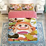 Sport do Japanese Anime Himouto! Umaru-chan Bedding Set Personality Customization Kids/Students Duvet Cover Set Anime Bedding Set(3-Piece,Twin)