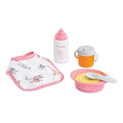 "Corolle Mon Premier Poupon Mealtime Set - Feeding Accessories for 12"" Baby Dolls: Toys & Games"