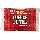 カリタ コーヒーフィルター NK103濾紙 4~7人用 100枚入り ブラウン #15083