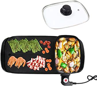 Amazon.com: Nonstick Teppanyaki Grill Electric BBQ Table