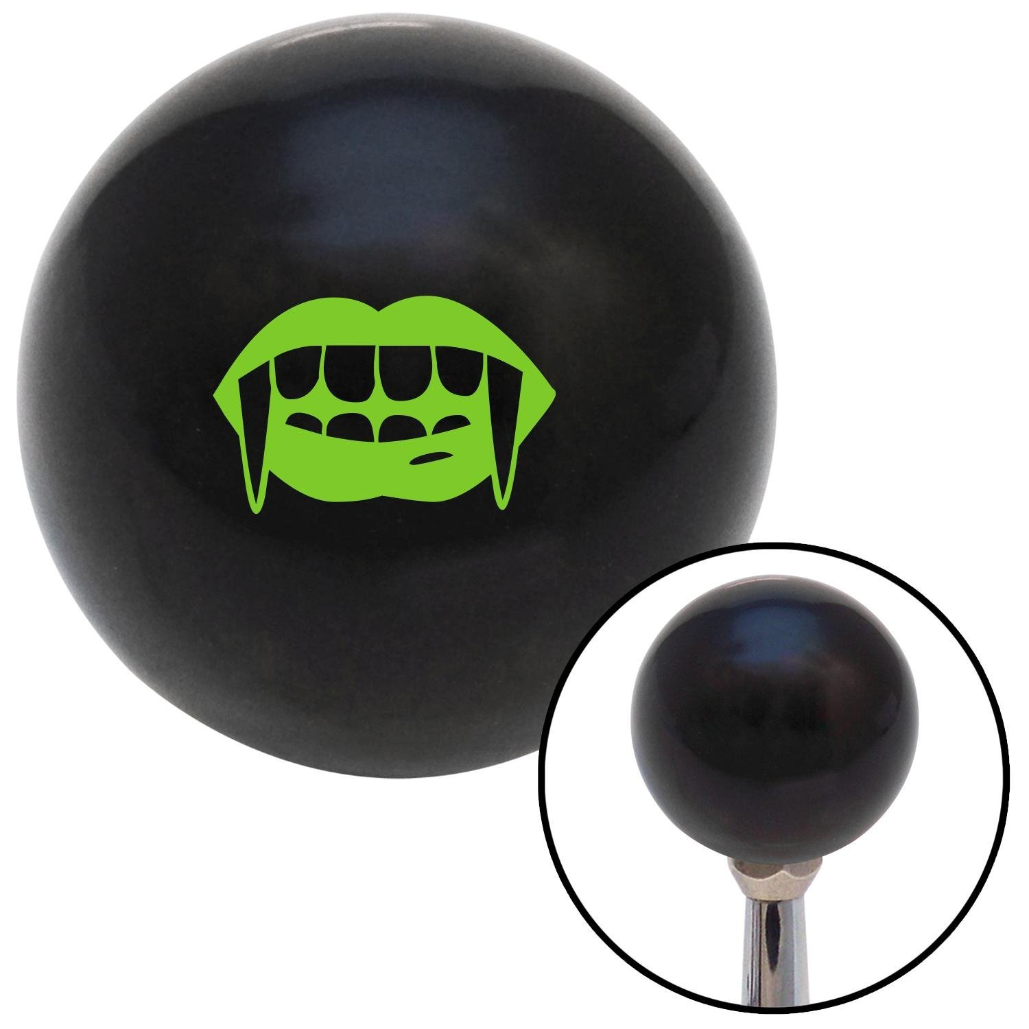 Green Mouth with Fangs American Shifter 107835 Black Shift Knob with M16 x 1.5 Insert
