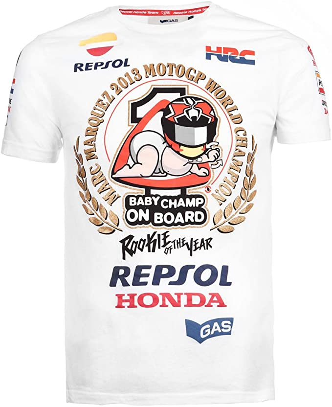 Marc Marquez - Camiseta - Hombre, Color Blanco, tamaño Medium ...