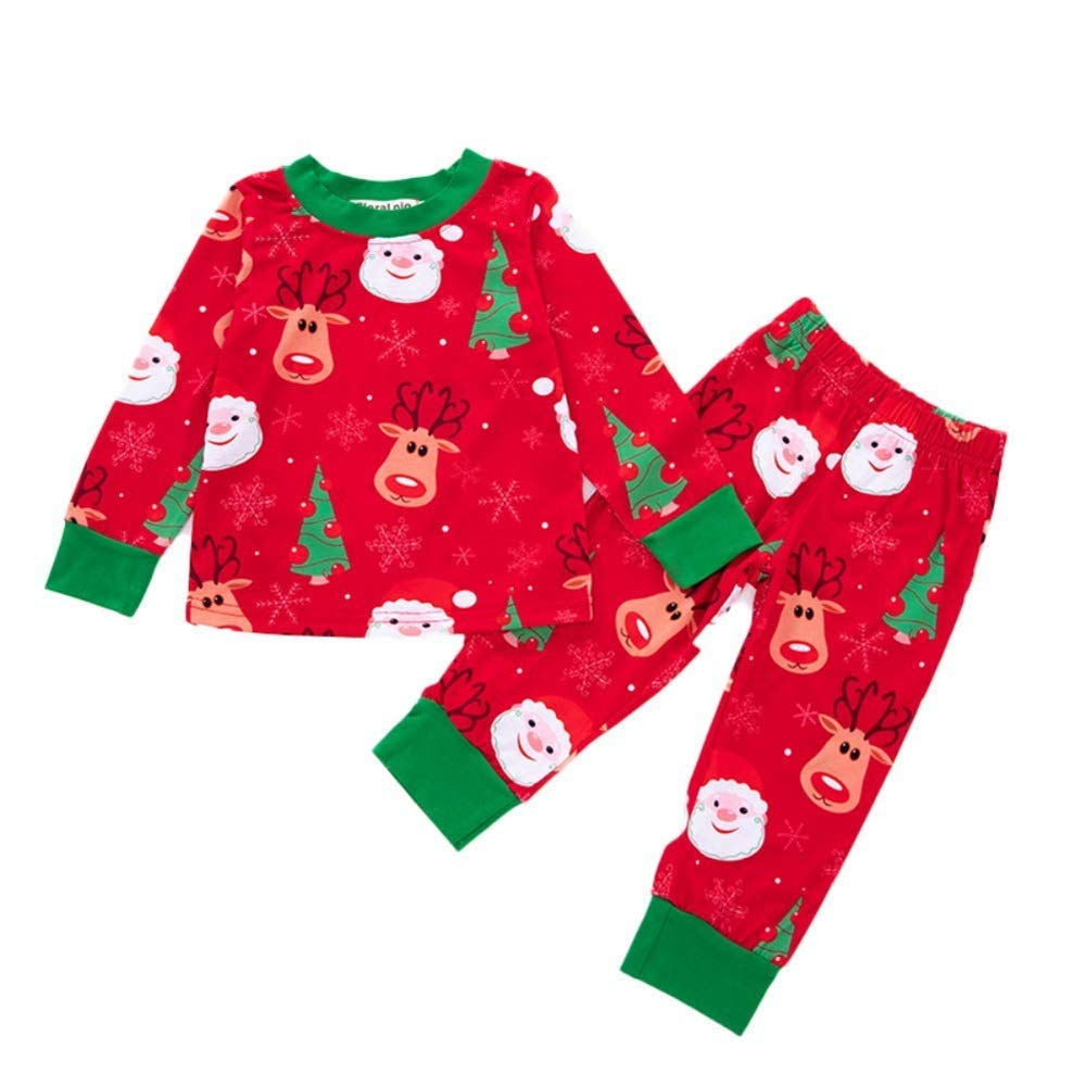 Unisex Clothes Sets Little Big Sisters Brothers Cartoon Christmas Clothes Girls Boys Outfits Rompers