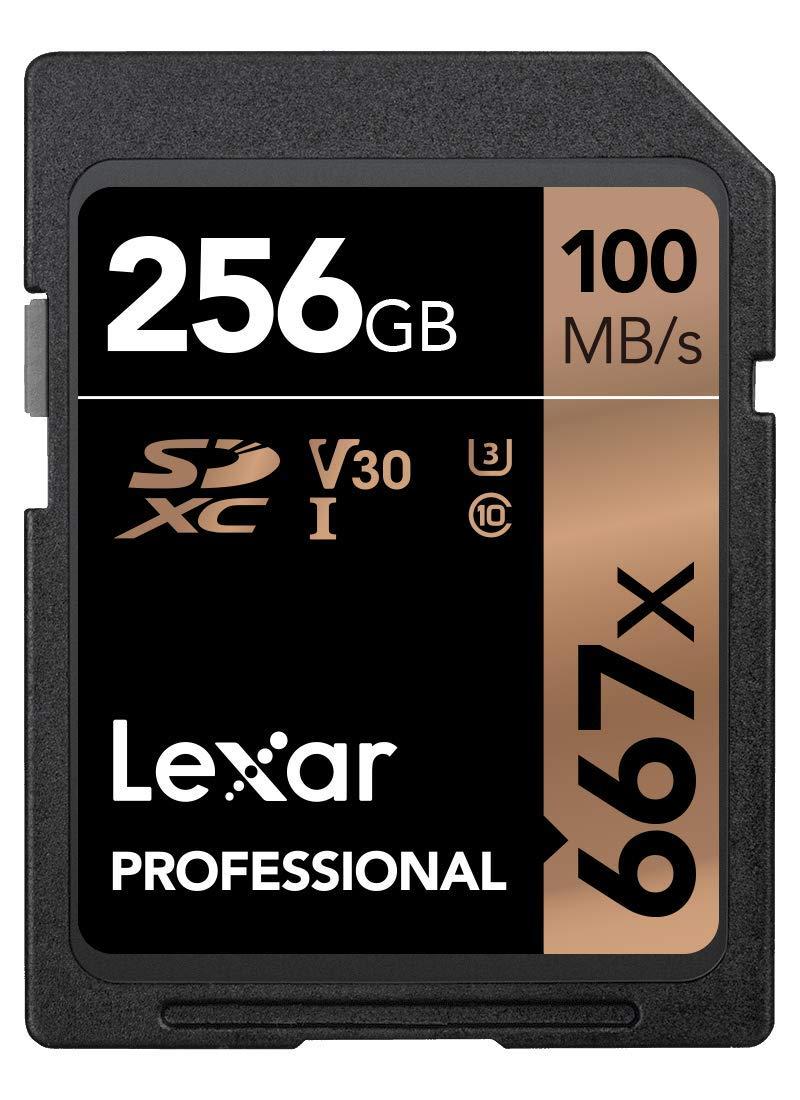 Lexar Professional 667x 256GB SDXC UHS-I/U3 Card (LSD256BNA667) by Lexar