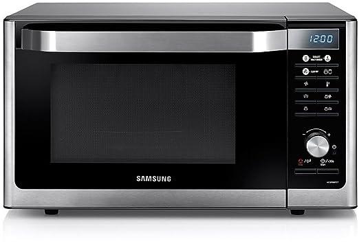 Samsung MC32F606TCT - Microondas Horno (230V, 50 Hz, 37.3 cm, 23.3 cm, 37 cm), acero inoxidable, color plateado y negro