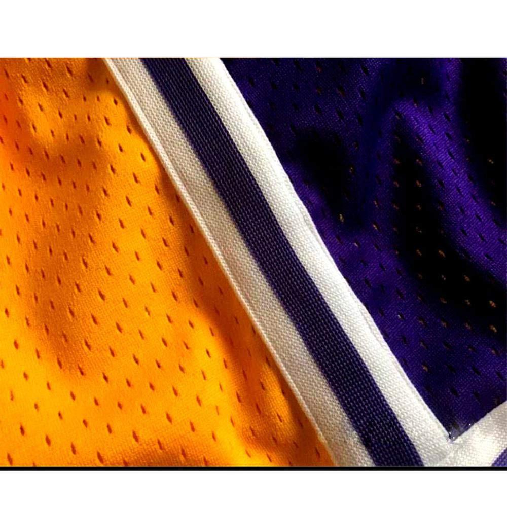 Jersey SumPo Lakers # 23 James Basketball Hosen Herren Sport Shorts Gelb Stickerei Trainingswettbewerb Cropped Pants Five Pants