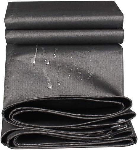 Lona con Ojales de Metal | Funda Impermeable para Remolque Tienda de campaña | para Techo, Camping, Exterior, Patio, Reversible, Negro, Espesor 0.7 mm, 550 g/m²: Amazon.es: Deportes y aire libre