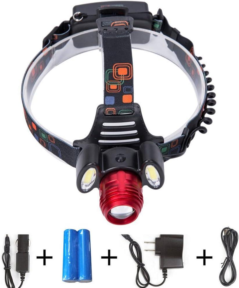 ultra-léger imperméable induction pour enfants adultes DEL Tête Torche Rechargeable USB