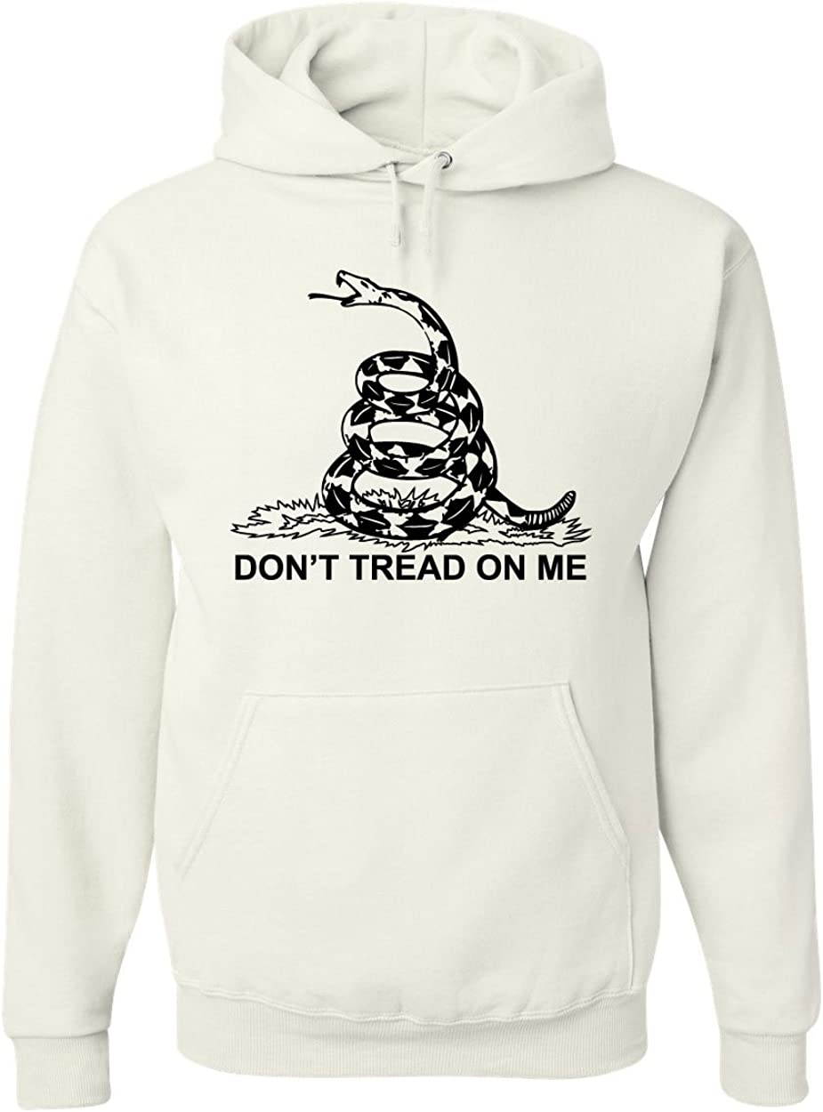 Dont Tread On Me Hoodie Gadsden Flag Political Patriot White S