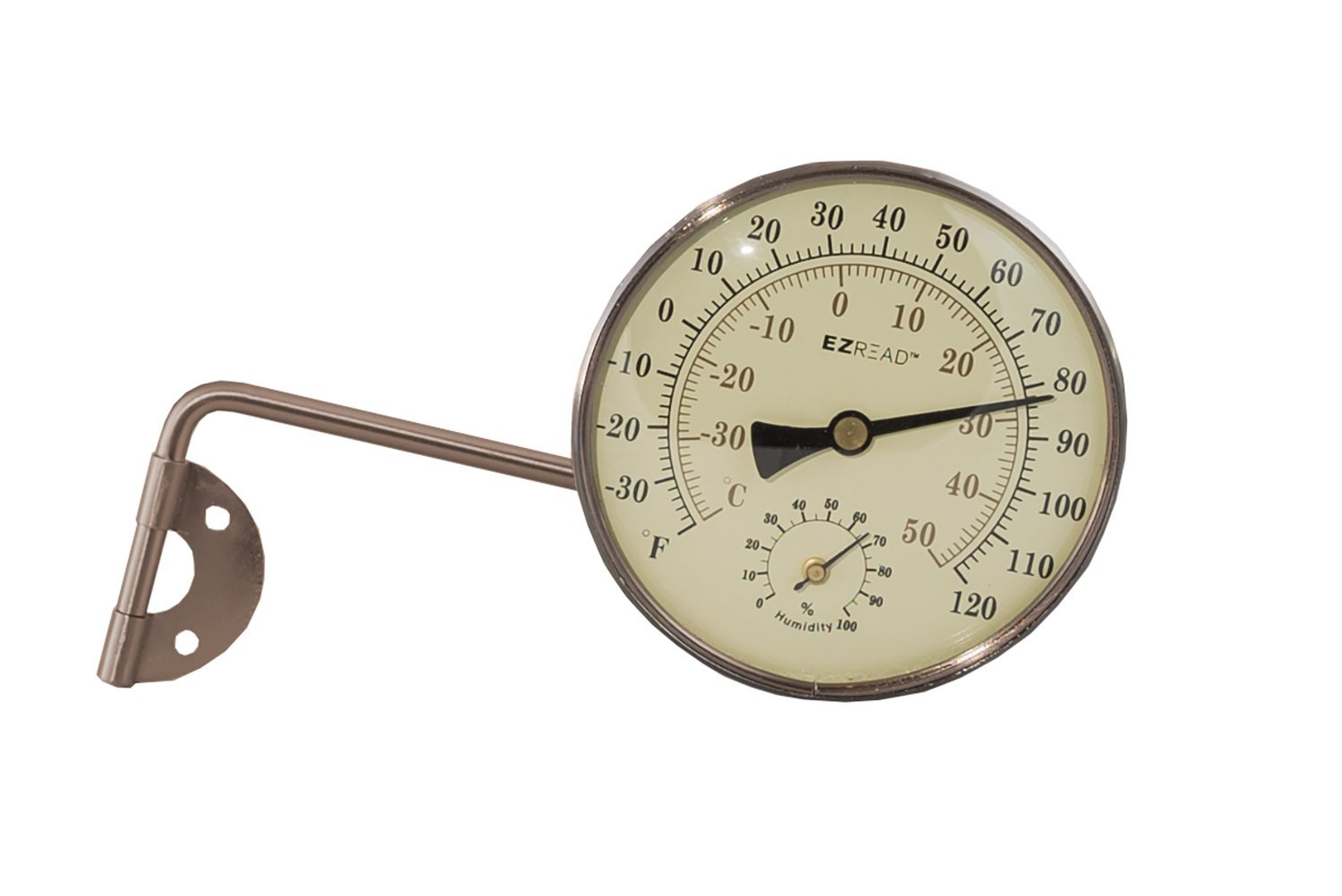 Headwind Consumer Products 840-0082 Metal Thermometer/Hygrometer, Oil rubbed Bronze, 4''