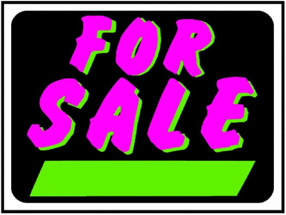 Hy-Ko 3041 Fluorescent For Sale Sign