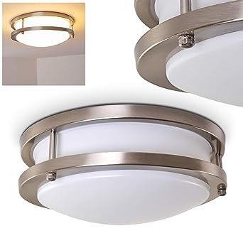 Bad Deckenlampe mit LED-Lampen für Badezimmer oder andere Räume wie Flure  und Wohnzimmer - Deckenspot aus Metall in modernem Design der Energieklasse  ...