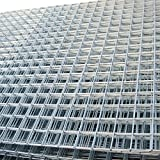 Welded Wire Mesh Panel 8ft x 4ft Galvanised Steel Sheet Metal Grid 2' / 50mm Holes 12 gauge