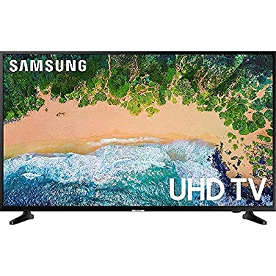 """Samsung UN55NU6900 55"""" NU6900 Smart 4K UHD TV (2018) w/Wall Mount Bundle Includes, Wall Mount Kit for 45-90 inch TVs, Screen Cleaner (Large Bottle) and SurgePro 6-Outlet Surge Adapter w/Night Light"""